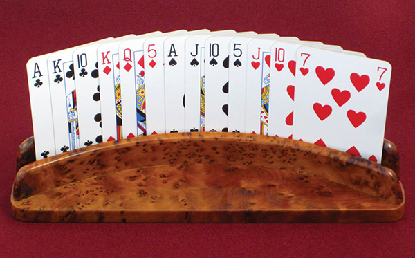 luxury wooden playing card holder